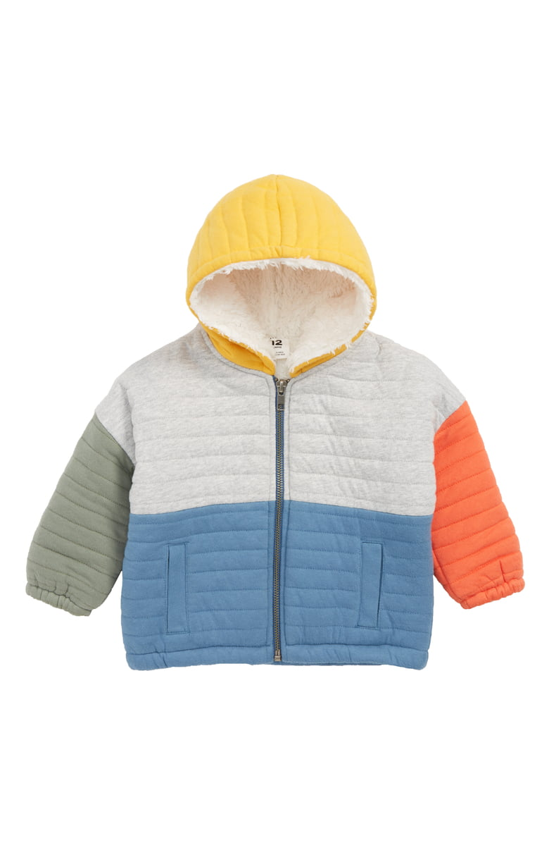 Stem Quilted Jacket with Faux Fur Lining