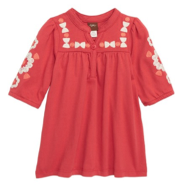 Tea Collection Embroidered Henley Dress