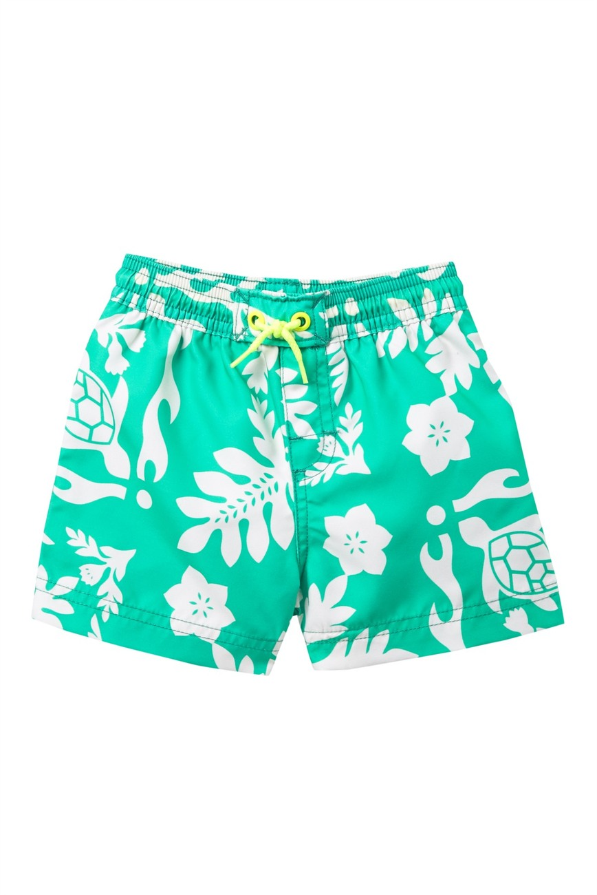 Tea Collection Turtle and Leafy Swim Trunks
