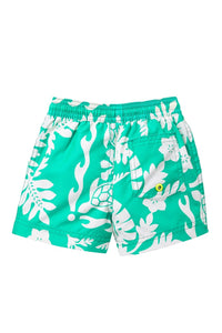 Tea Collection Turtle & Leafy Swim Trunks