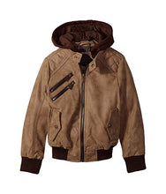 Load image into Gallery viewer, Urban Republic Faux Leather Brown Motorcycle Jacket