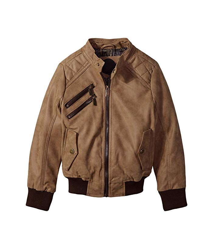 Urban Republic Faux Leather Brown Motorcycle Jacket