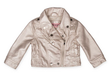 Load image into Gallery viewer, Urban Republic Silver Metallic Moto Jacket