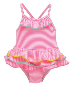 Wetsuit Club Pink Seersucker Tutu 1-Piece Swimsuit