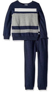 Splendid Sweatshirt Striped Tee  & Jogger Set