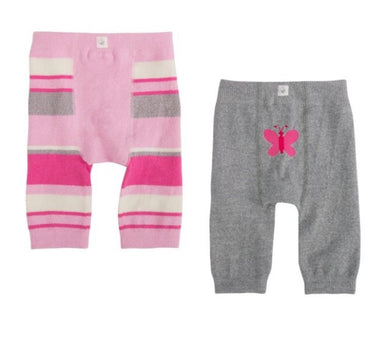 Cuddl Duds Set of 2 Knit Cozy Pink Striped Pants