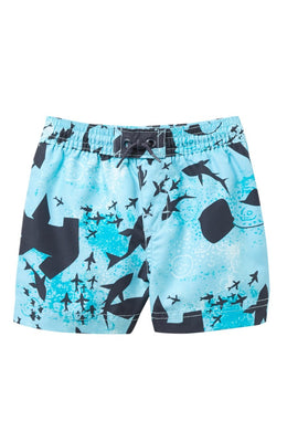 Tea Collection Shark Swarming Swim Trunks