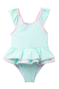 Wetsuit Club Green Seersucker Tutu 1-Piece Swimsuit