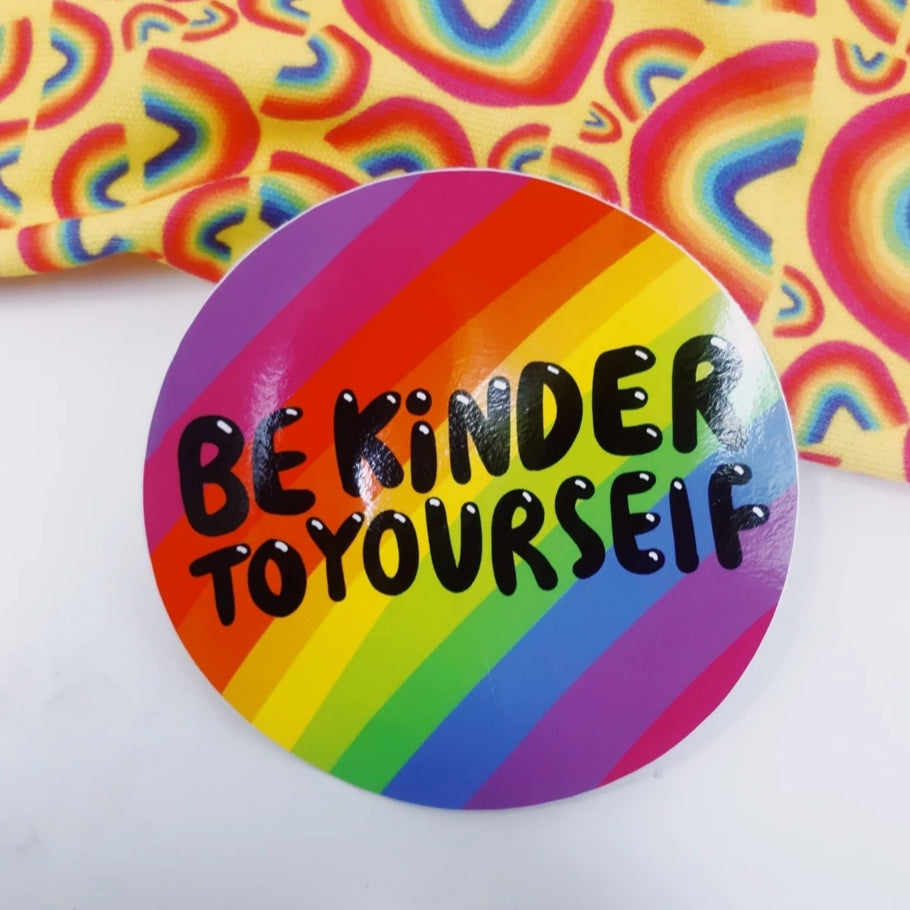 Be kinder to yourself sticker
