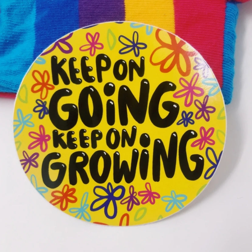 Keep on going sticker