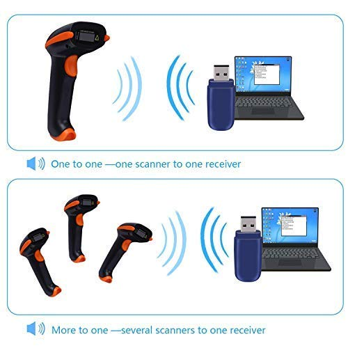 Tera Barcode Scanner Wireless Versatile 2-in-1