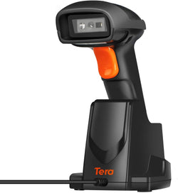 Tera 433 Wireless Long-distance 2D QR Barcode Scanner with Charging Cradle High Density 1 Mega Pixel Camera model: HW0007