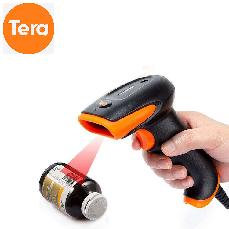 Tera Wireless 1D 2D QR Bluetooth Barcode Scanner Industrial Barcode Scanner Heavy Duty with Stable Stand model: 8100