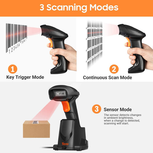 Tera Long-distance Handheld 2D Scanner With 1 Megapixel Camera