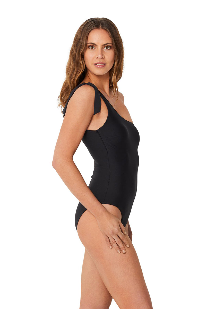 Asymmetrical Maillot Black