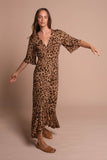 Emily Wrap Dress Leopard