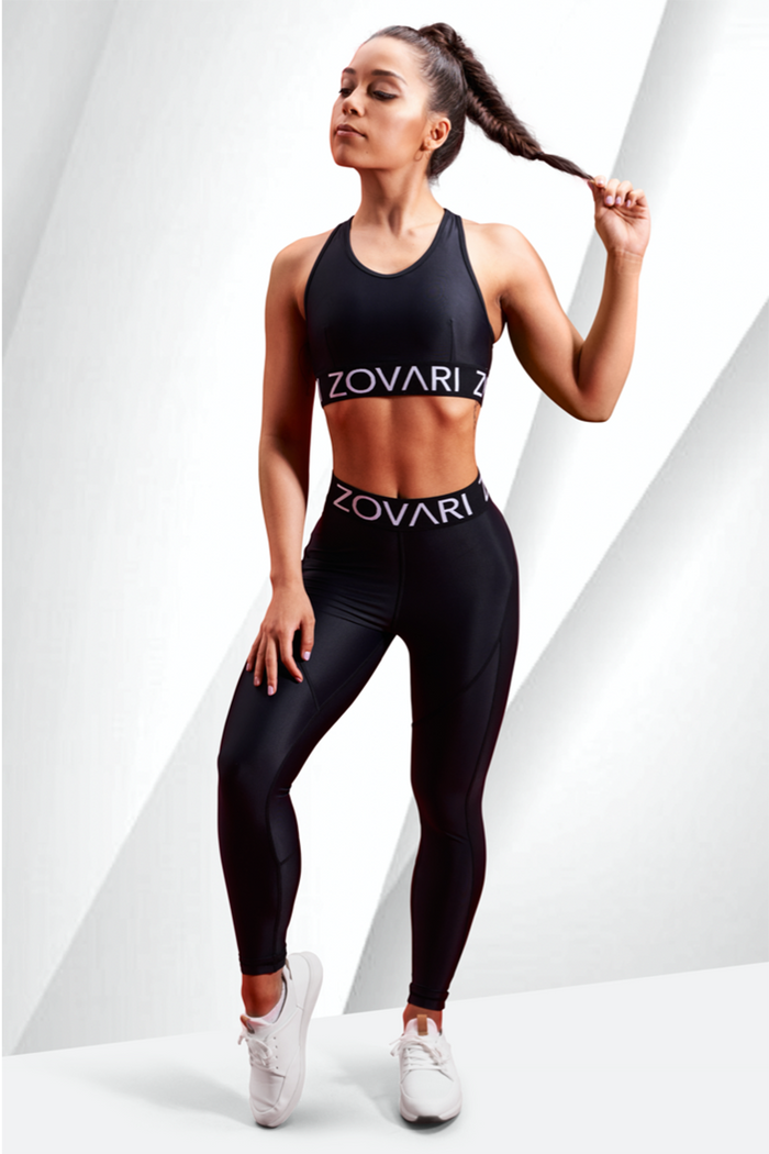 ZOVARI Star Leggings Black