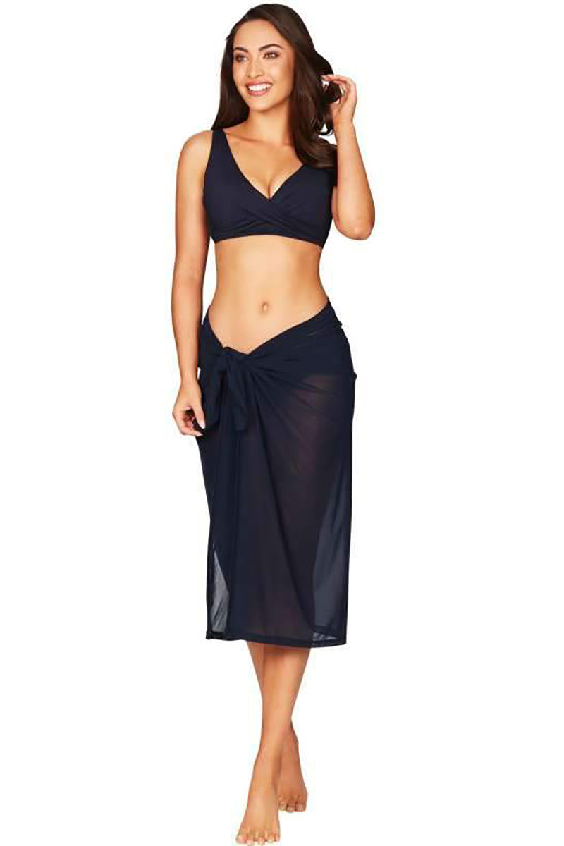 Essentials Mesh Swim Wrap Black
