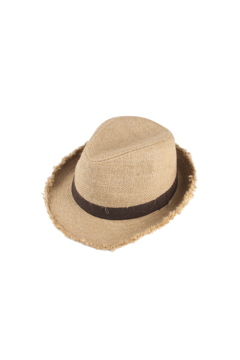 Fawn Jagged Hemp Natural Hat