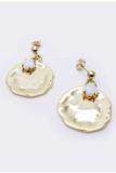 Gisel B. Medal Opal Earrings