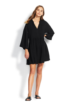 Beach Edit Kimono Sleeve Ladder Dress