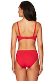 Essentials Mid Bikini Pant Red