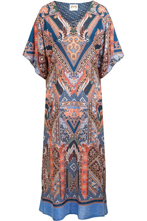 Splendeurs Terracotta Mix Kaftan