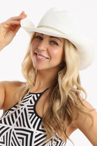 Shady Lady Coyote White Hat