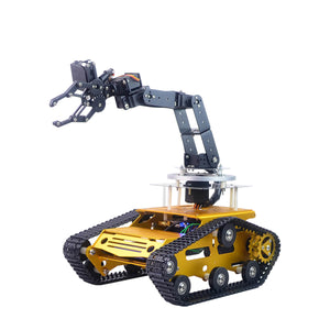 6DOF Smart Robot Car Metal RC Robot Arm Metal Tank Car for programmed learning