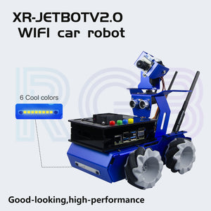 XiaorR Geek Jetson Nano Jetbot 2.0 wireless Mecanum wheeled smart robot car