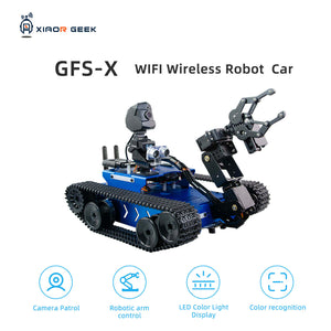 XiaoR GEEK GFS-X crawler-type robot car with Raspberry Pi for learning programming