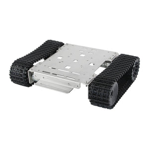 Tracked Robot Chassis Smart Car Platform Stainless steel Chassis with Dual DC 12V Motor for Arduino/ Raspberry Pi