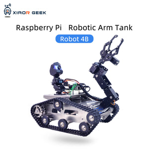 Raspberry Pi TH smart tank robot car with robotic arm