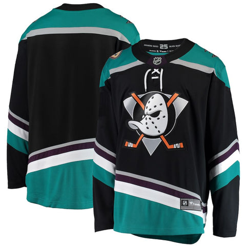 Men's Anaheim Ducks Fanatics Branded Black Alternate Breakaway Jersey