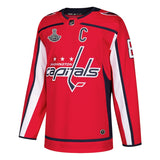 Men's Washington Capitals Alexander Ovechkin adidas Red 2018 Stanley Cup Champions Home Authentic Patch Player Jersey