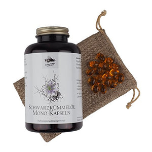 Schwarzkümmelöl Kapseln, 400 Kapseln/ 1000 mg pro Portion / mit Vitamin E - Made in Germany