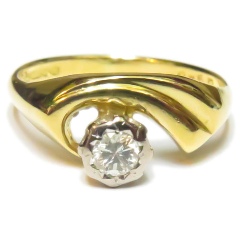Unusual Solitaire Ring