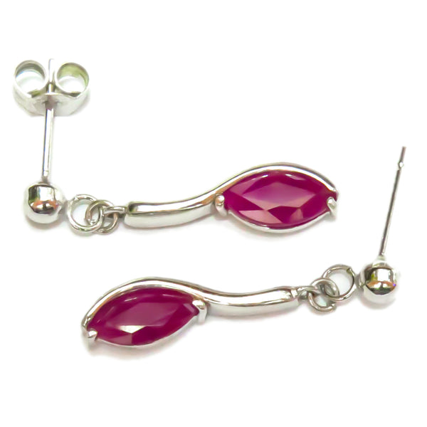 Marquise Ruby Ear Drops