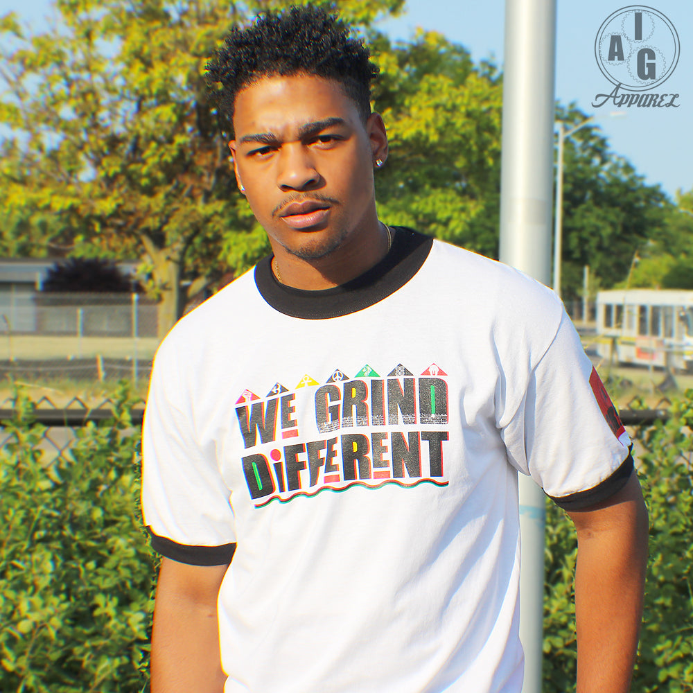 We Grind Different Men's Ringer Tee