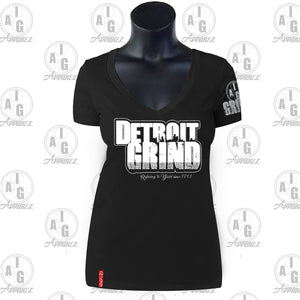 Detroit Grind VNeck Ladies' Tee