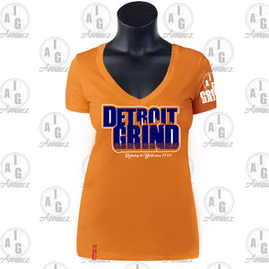 Detroit Grind VNeck Ladies Tee Plus Special