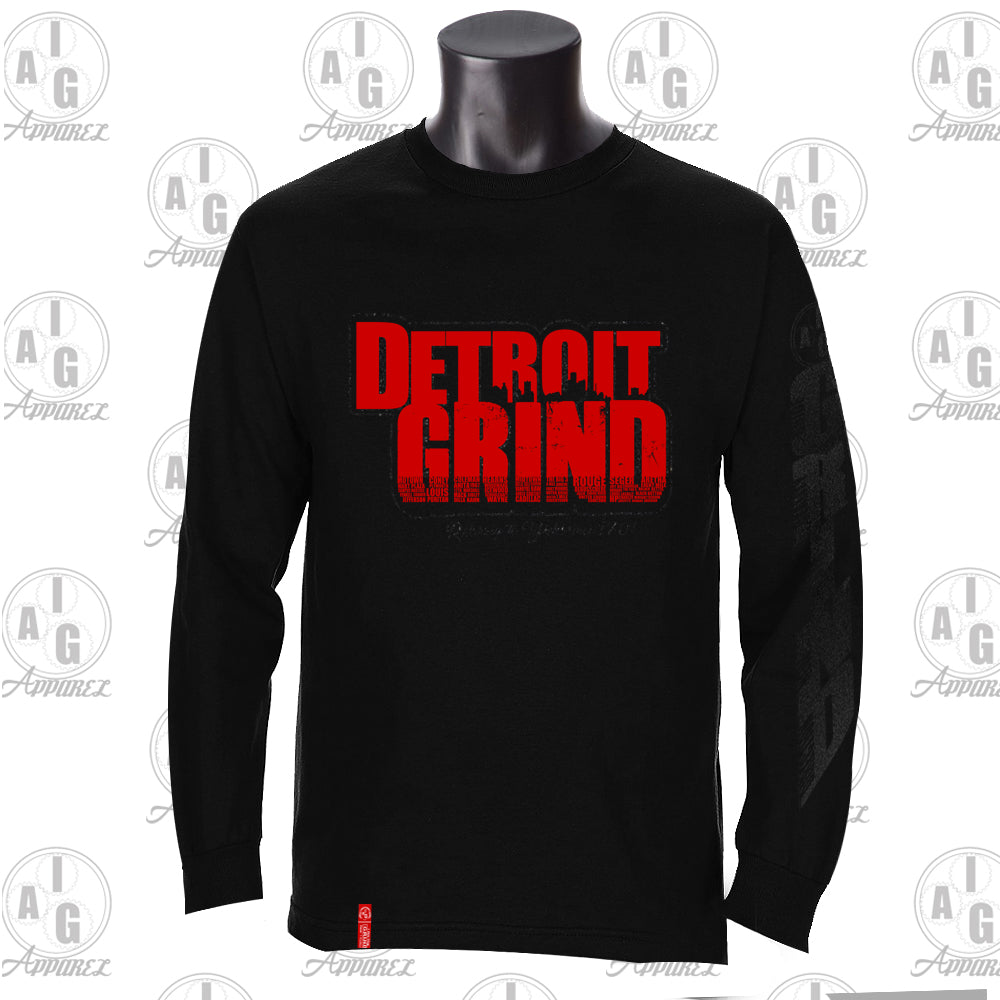 Detroit Grind Long Sleeve Men's Tee