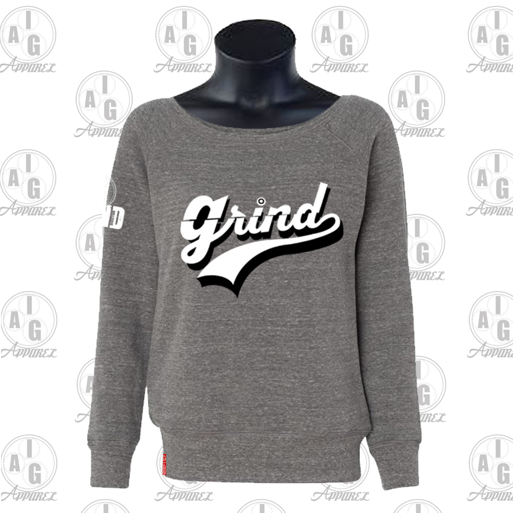 Grind Ladies Wide Neck Sweater