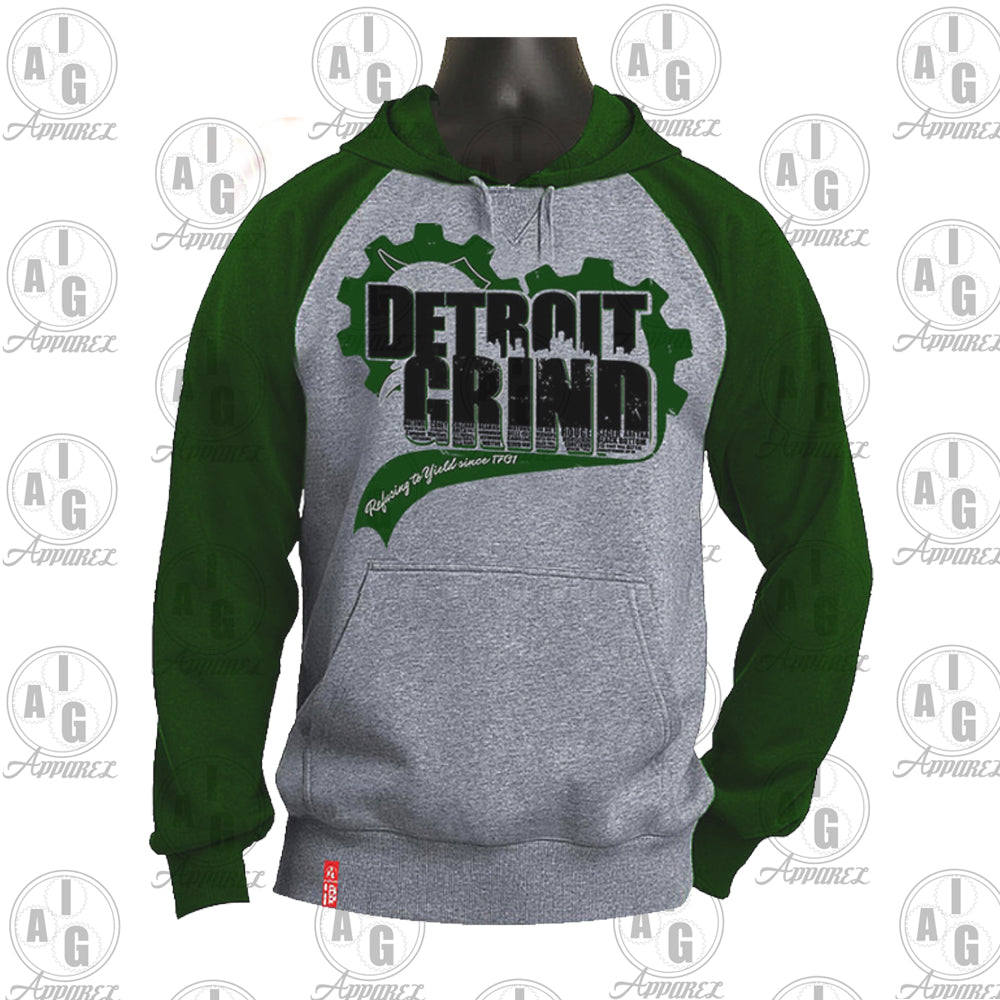 Detroit GRIND Big and Tall Raglan Hoodie