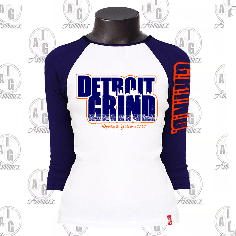 Detroit Grind Ladies Raglan