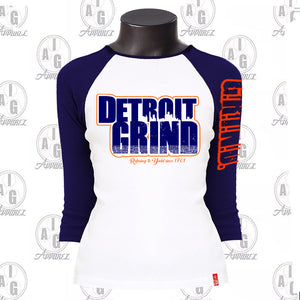 Detroit Grind Ladies Raglan Plus
