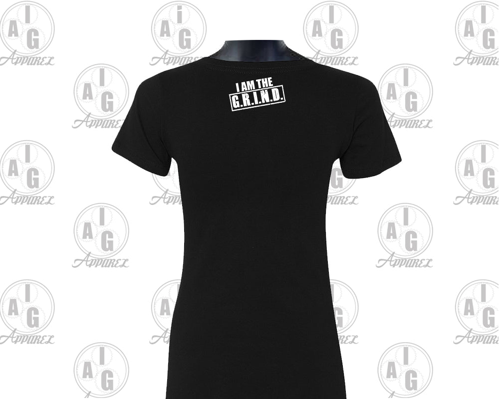 Detroit Grind VNeck Ladies Tee
