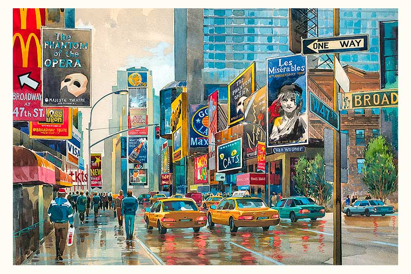 Broadway by Roustam Nour fine art giclée print