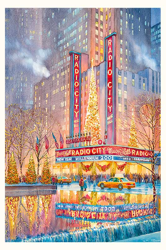 Radio City by Roustam Nour fine art giclée print