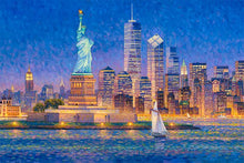 Load image into Gallery viewer, New York Skyline by Max Lanchak fine art giclée print on canvas